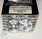 Atomic # AR-193 ~21.5mm T.S Rims- Rear for Kyosho Mini-Z  (+3 Offset) Silver