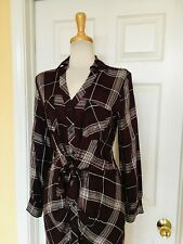 JENNIFER LOPEZ plaid dress size M