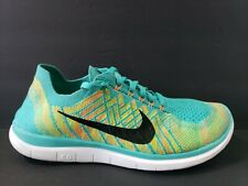 low priced 9f845 c8b85 New ListingNike Free Flyknit 4.0 Mens Size 10 Running Shoes Black Blue White  717075 300