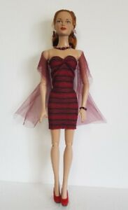 """DRESS, WRAP/SASH AND JEWELRY SET for Tonner 16"""" Tyler Brenda Fashion NO DOLL d4e"""