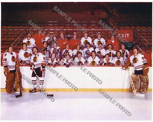 1981-82 CHICAGO BLACKHAWKS 8X10 TEAM PHOTO SAVARD ESPOSITO BANNERMAN SUTTER