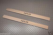 LADA NIVA 2pcs Stainless Steel Door Sill Covers  floor sill trim kit tunning