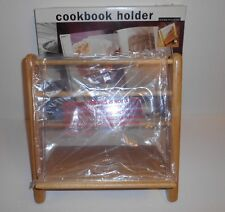 Kamenstein Solid Wood Cookbook Book Holder W/ Plastic Page Protector NOS