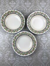 Mikasa Flower Fancy Set of 3 Large Rim Soup Bowl DC308 Discontinued
