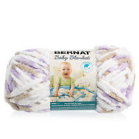 Bernat Baby Blanket Soft Absorbent Polyester Super Bulky #6 Yarn Skein Knitting