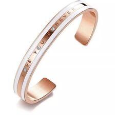 CDE 18K Rose Gold Bracelet Embellished with Crystals from Swarovski Bangle Cuff