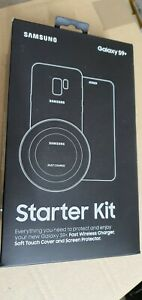 Samsung Galaxy S9+ Starter Kit: Wireless Charger, Soft Case and Screen Cover