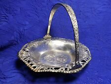 """Silver Plated Basket Occupied In Japan 7.5"""""""