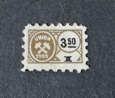 Briefmarke -  Bergwerksmarke - Union 1925 - Schlägel und Eisen - Selten + NEU!