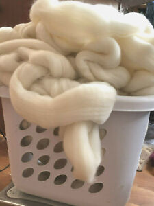 Wool Roving Fiber Top 6 lbs GRAB BAG BULK Spin wool, Felting Wool,  Bulk wool