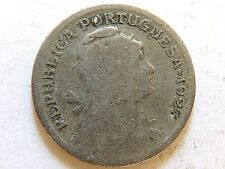1927 Portugal Fifty (50) Centavos Coin