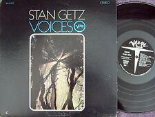 Stan Getz~Orig US LP Voices EX '66 DG RVG Verve V6-8707 Jazz Post Bop