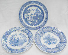 Spode Blue Room Collection Lot of 3 Plates Seasons Willow Girl at Well England