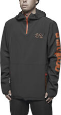 ThirtyTwo 4TS STACK Mens 1/4 Zip Front Hoodie Pullover Jacket Large Black NEW