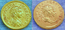 MUSEUM QUALITY REPRODUCTION of X RARE 24K GOLD ROMAN 3 HEAD AUREUS COIN OF GETA