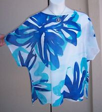 Chico's kimono slv tunic top blouse size 3 L XL 16 18 plus size 1x SPRING shirt