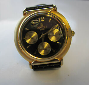 RIVOLI Quartz Analog Fancy Water Resistant Watch Gold/leather - Stainless Japan