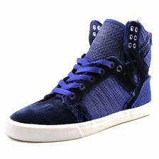 check out 18ffc 25558 Supra Women s Skytop Royal White Blue Laced Velvet Trainer Skate Sneaker  SW18018