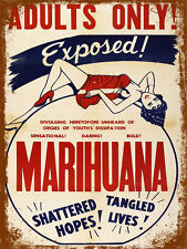vintage retro style Marihuana poster image metal sign wall door plaque