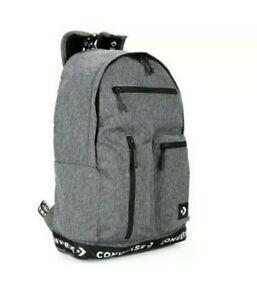 Adults Converse Organizer Laptop Sleeves Backpack Dark Gray Heather