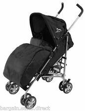 UNIVERSAL FIT BLACK PRAM COSY STROLLER BUGGY PUSH CHAIR FOOT MUFF WARMER COVER