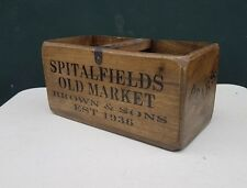 Rustic Antique Vintage Spitalfields Wooden Boxes Crates.medium Size