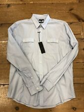 Peter Werth Twin Pocket Shirt/Blue - XL WAS £45.00