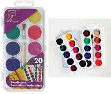 Semi Moist Watercolor Painting Cakes 20 Pearlescent Colors 390220 Jack Richeson