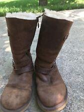 UGG Kensington leather/sheepskin Toast Brown Boots Size 6