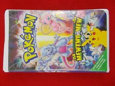 Pokemon the First Movie Mewtwo Strikes Back VHS 2000 Clamshell