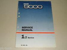 Werkstatthandbuch Service Manual Maintenance Wartung Saab 9000, 1988