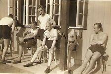 WWII German RP- Army Soldier- Semi Nude- Gay Interest- Sunbathing- Named