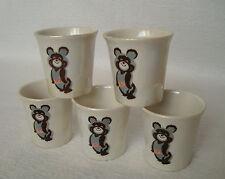 Set 5 Vintage USSR Olympic Games Moscow 1980 mini Porcelain Cups Shots - Misha