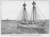 LIGHT-SHIP MOORED TO MARK SHIP-WRECK OREGON, ENGRAVING