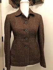 Pre-Owned Women's Banana Republic Wool Houndstooth Blazer Jacket Size:0
