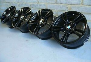 """Genuine 18"""" BMW 400M 3 & 4 Series Alloy Wheels: Gloss Black F30 F31 F32 F33 F36"""