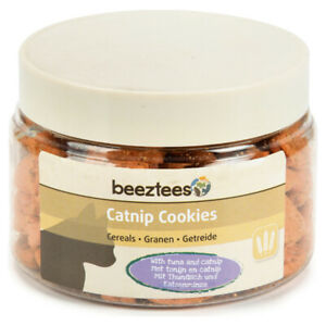 Beeztees Snack pour Chats Catnip Cookies Thon 55 G, Neuf