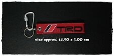 TRD Key Holder Fabric Strap Tag Keychain Keyring Logo Embroidered Motorcycle Car