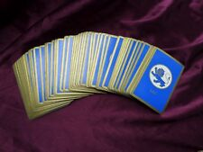 Vintage Playing Card Deck Blue LEO Astrology Birthday Lion No Jokers