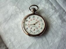 Analog Silver Pocket Watches with 24-Hour Dial