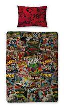 Disney Marvel Avengers Action Figure Hero Duvet Set Bedding Single 135 X 200cm