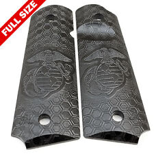 "1911 Pistol Grips .25"" Thickness - USMC HoneyComb Black Finish (full size)"