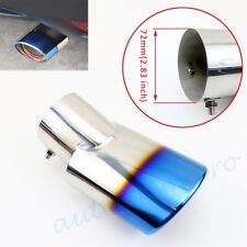 72mm Car Rear Exhaust Tail Tip Pipe Muffler Chrome Colorful Accessories Decorate