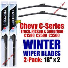 WINTER Wipers 2pk Premium 1988-2000 Chevrolet Chevy C1500 C2500 C3500 - 35180x2