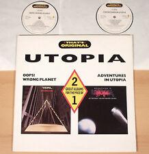 TODD RUNDGREN - Oops + Adventures In Utopia  (CASTLE, UK 1988 / 2LP / MINT)