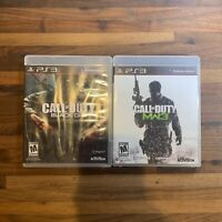 Call Of Duty Black Ops & MW3 Lot Of 2 Complete With Manuals Playstation 3