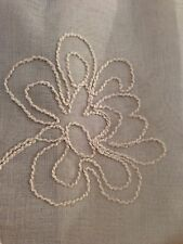 "LAURA ASHLEY FROSTING SHEER FLORAL EMBROIDERED 40x84"" TAUPE WINDOW PANEL CURTAIN"