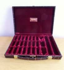 Vintage Leather Alligator Look Briefcase Rare Upjohn Sample Case Jewelry Holder
