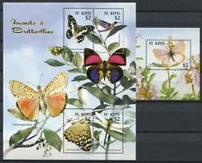 St. Kitts 2005 Schmetterlinge Butterflies Mariposa Insects 852-55 + Block 70 MNH