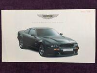 Aston Martin Virage Vantage Brochure 1993 - Very Rare